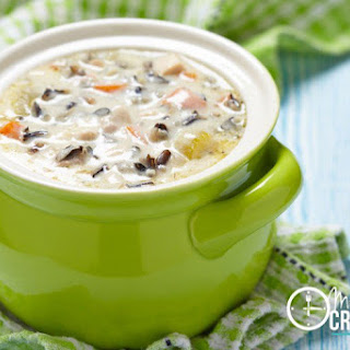 Crockpot Chicken Wild Rice Soup.