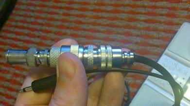 Photo: Koaxialni prechodka z samice UHF do monojacku 3.5mm.