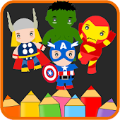 KIDS COLORING BOOK AVENGERS
