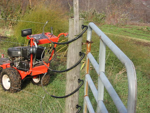 "Photo: Requires very sturdy corner posts - 4' in the ground. Requires ""cattle style"" gates."