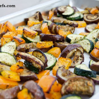 Roasted Mixed Vegetables with Basil