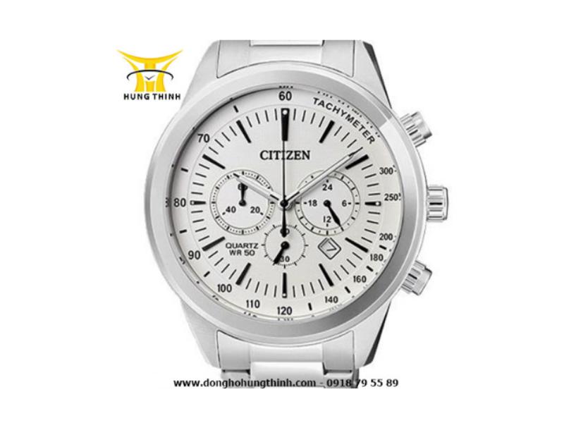 Mẫu đồng hồ Citizen 6 kim này mang lại cảm giác đơn giản mà hiện đại