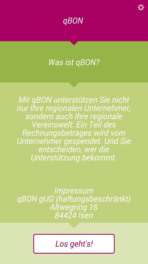 qBON - Belegspende- screenshot
