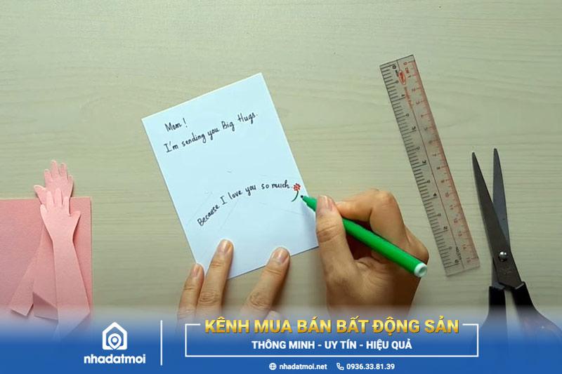 Viết lời chúc gửi đến mẹ lên thiệp