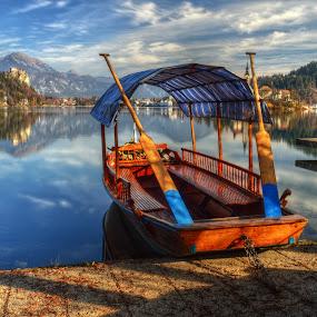boat by Mara R. Sirako - Transportation Boats ( slovenia, bled, lake, boat )