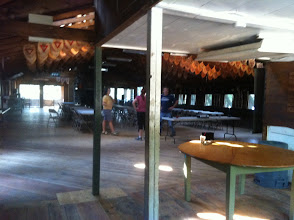 Photo: Inside the Dining Hall. This will be the Cotting House (Tavern).
