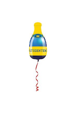 Folieballong, student champagne