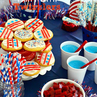 Blue Raspberry Slushies and A Patriotic Party with Twizzlers!.