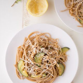 Lemon Zucchini Pasta (whole grain + vegetarian)