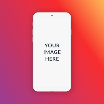 Colorful Phone Mockup - Instagram Post Template
