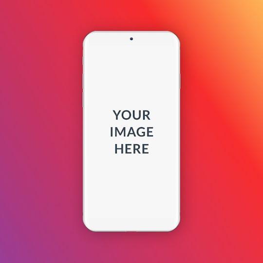 Colorful Phone Mockup - Instagram Post Template