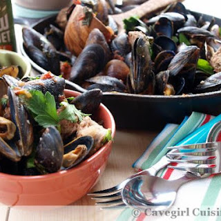 Drunken Mussels in Gluten-Free Beer.