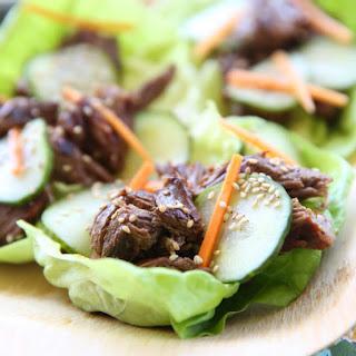 Asian Beef Lettuce Wraps.