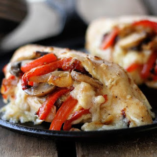 Cheesy Stuffed Chicken.