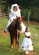 Photo: Here comes the bride...on horseback!  Married at their home - Salem, SC 8/09 -~www.WeddingWoman.net ~