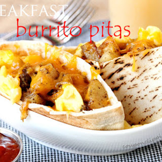 Breakfast Burrito Pitas