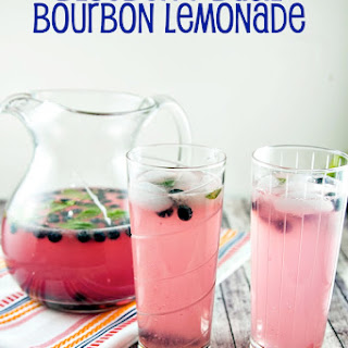 Blueberry Basil (Bourbon) Lemonade.