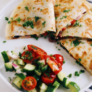 Mediterranean Quesadillas with Hummus and Feta (Gluten-Free) Recipe