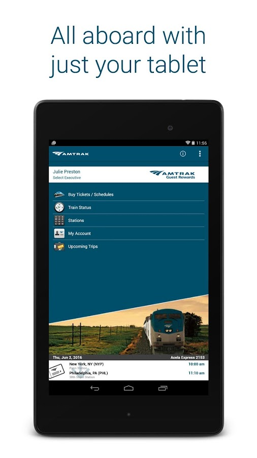 Amtrak- screenshot