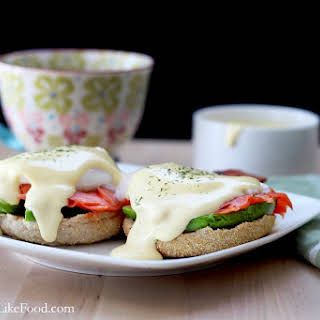 Easy Smoked Salmon Eggs Benedict with Blender Hollandaise Sauce.