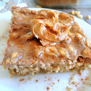 Peanut Butter Crunch Baked Steel Cut Oatmeal