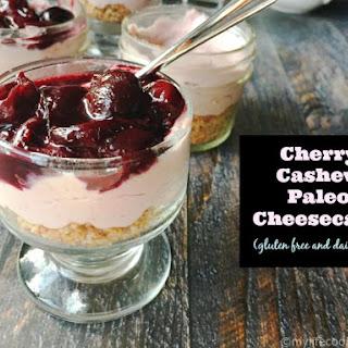 Cherry Cashew Paleo Cheesecake (GF, DF)