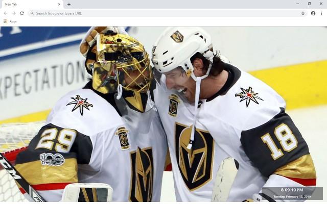 NHL Vegas Golden Knights New Tab Theme