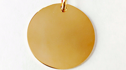 Collier grande medaille plaqué or