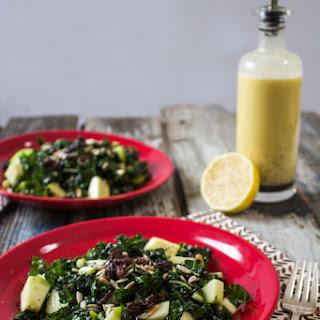 Apple Kale Salad with Lemon Poppy Seed Vinaigrette