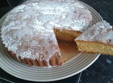 Lemon Cake with a lemon sherbet topping.