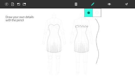 Fashion Design Flat Sketch Screenshot Thumbnail