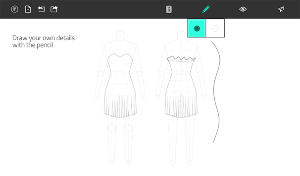Fashion Design Flat Sketch APK screenshot thumbnail 17