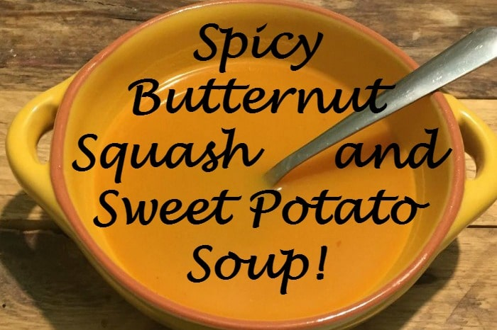 Super Soup – Spicy Butternut Squash and Sweet Potato Soup {Healthy, Delicious and Great for Slimming World}…. Recipe