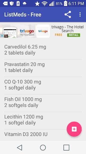 ListMeds - Free Screenshot