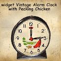 Vintage Clock Widget Chicken icon