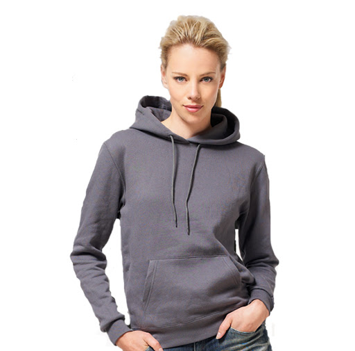 Ladies' Contrast Hoodie - Grey/Black