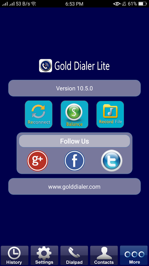 Gold Dialer Lite- screenshot