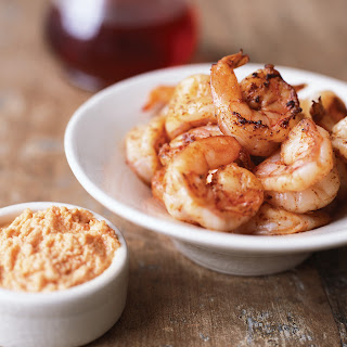 Spicy Shrimp with Garlic-Almond Sauce.