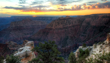Photo: Atop a lonely overlook at the Grand Canyon waiting for the sun to break the horizon.