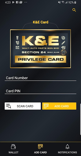 K & E PRIVILEGE CARD 1.0.1 screenshots 2