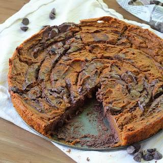 Crustless Marbled Chocolate Pumpkin Pie
