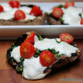 Stuffed Portobello Pizza.