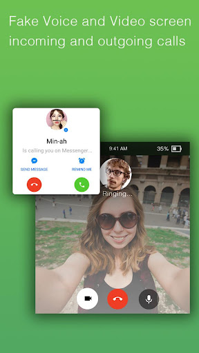 Fake video call - FakeTime for Messenger 2.2.93 screenshots 2