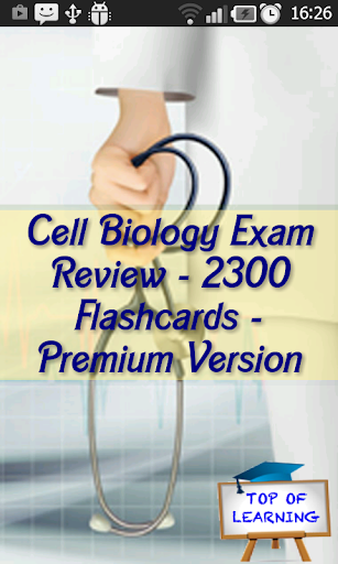 Cell Biology Exam Review 2300F