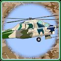 Helicopter Flying Desert