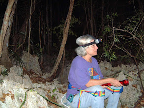 Photo: 2003 Watching and waiting in the very rocky Ironwood Forest at night,  to see if any Giant Sphinx moths, probable pollinators,  visit the fragrant Ghost Orchid flowers - Dendrophylax fawcettii,    (we didn't see any). May 1, 2003