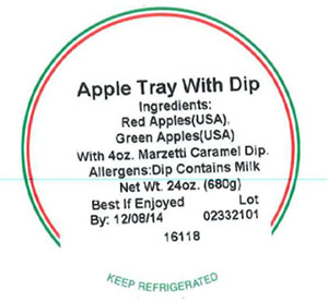 Label, Apple Tray With Dip, 24 oz.