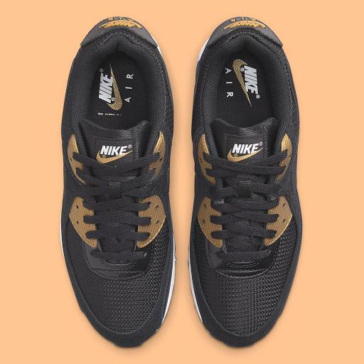 The Nike Air Max 90 Gets A Sleek Black And Gold Arrangement