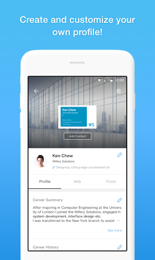 Eight - Manage Business Cards  screenshots 4