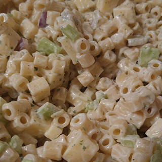Easy Macaroni Salad With Cheese.